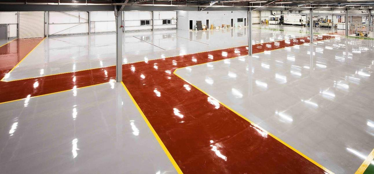 Alco Valves Completed Resin Floor