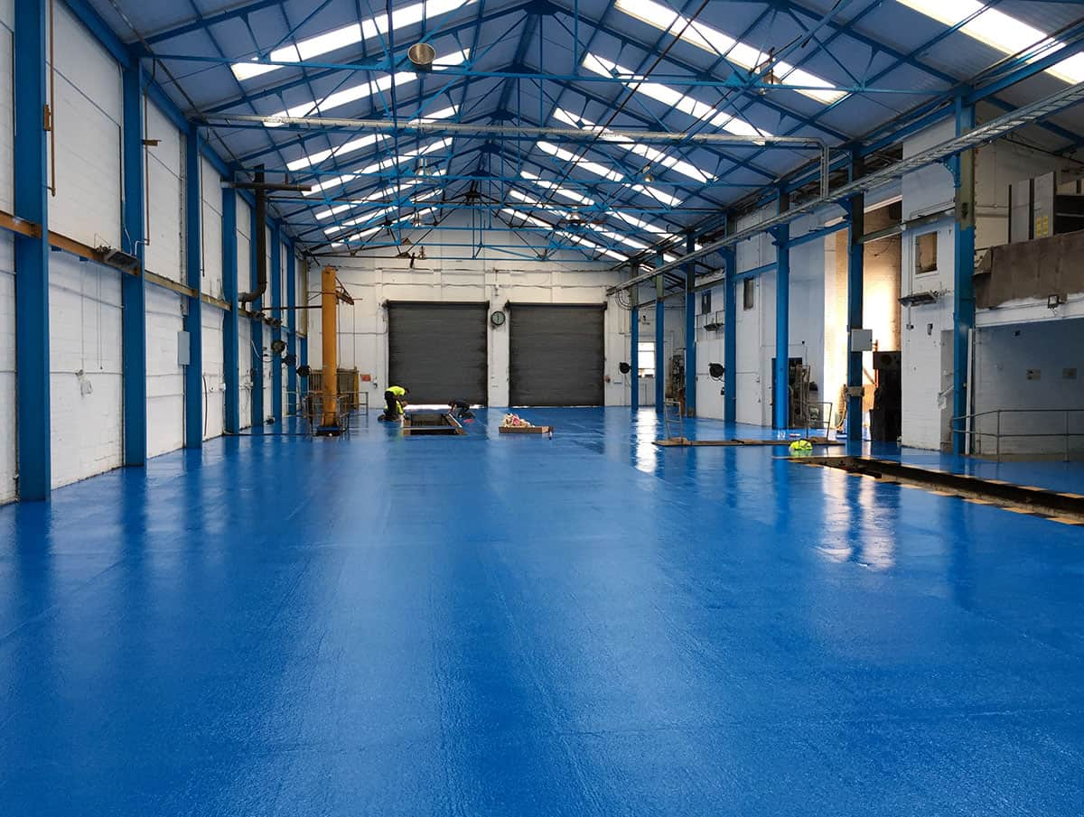 Fast cure resin floor fully installed at Collett