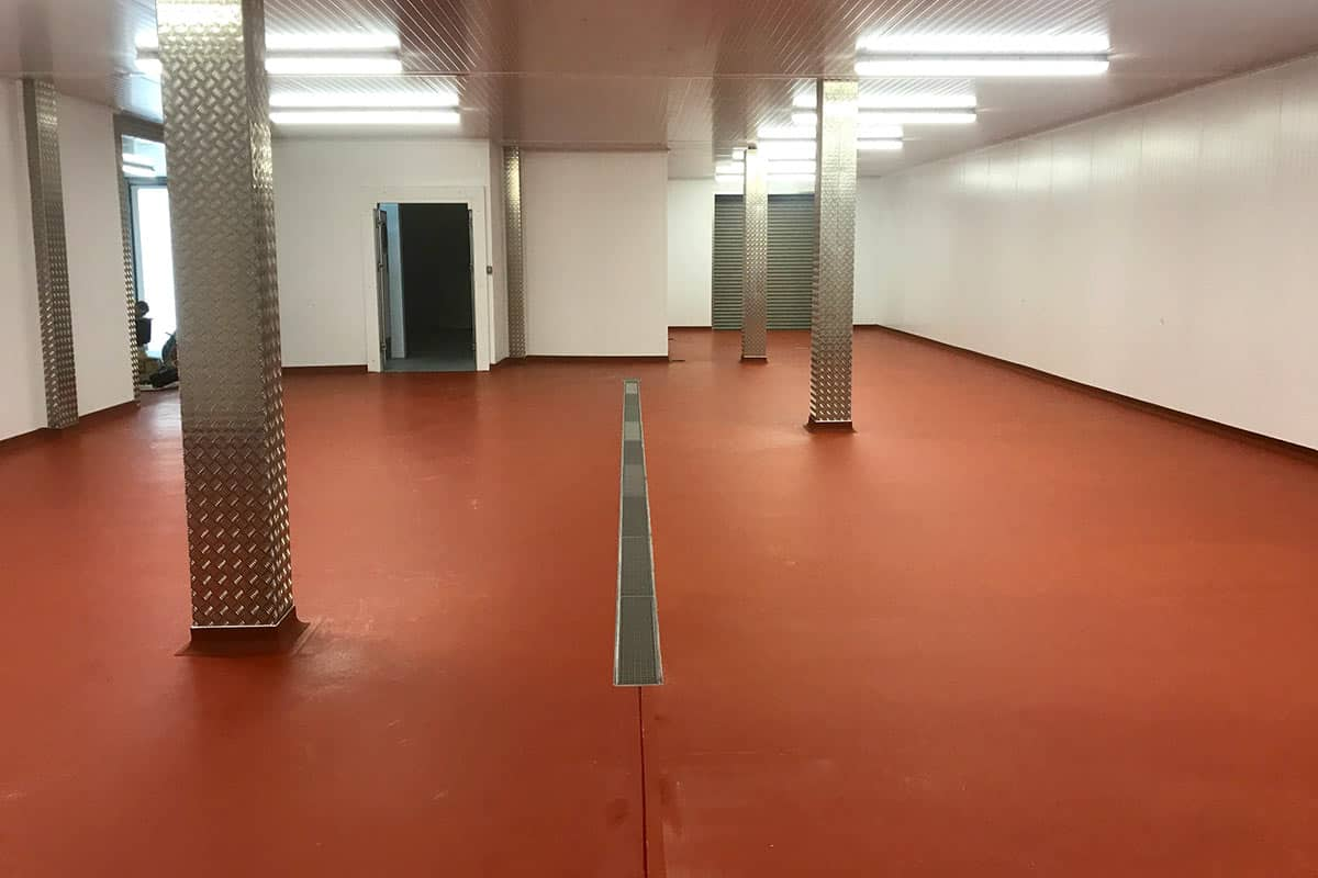 The completed temperature resistant flooring at Tubzee