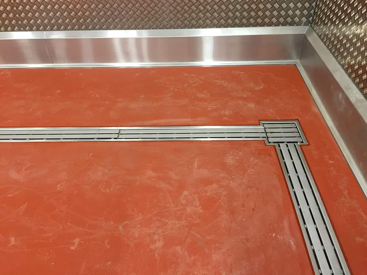 Hygienic Floor Drainage Amp Kerbs For New Food Production Line